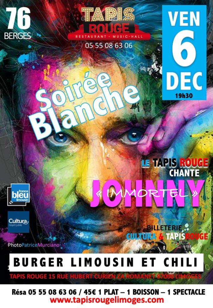 DINER CONCERT JOHNNY SOIRÉE BLANCHE