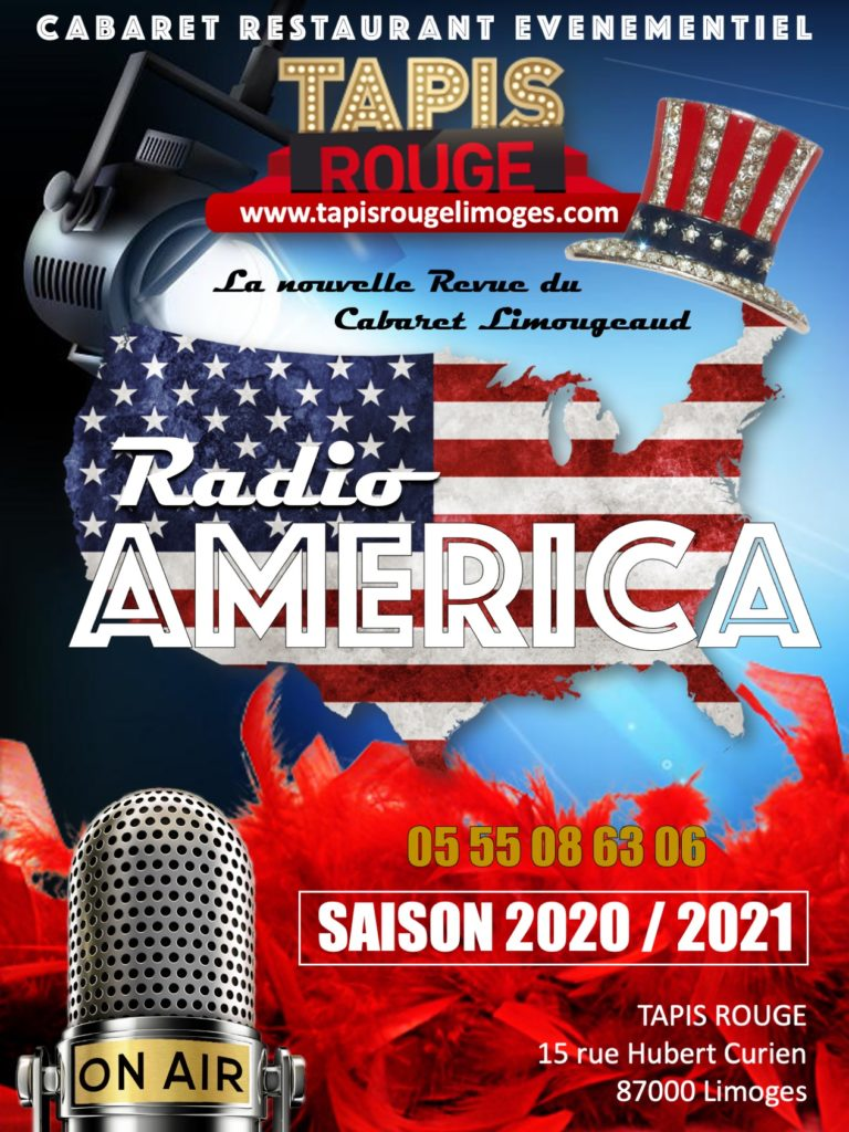 DINER SPECTACLE RADIO AMERICA LE SOIR