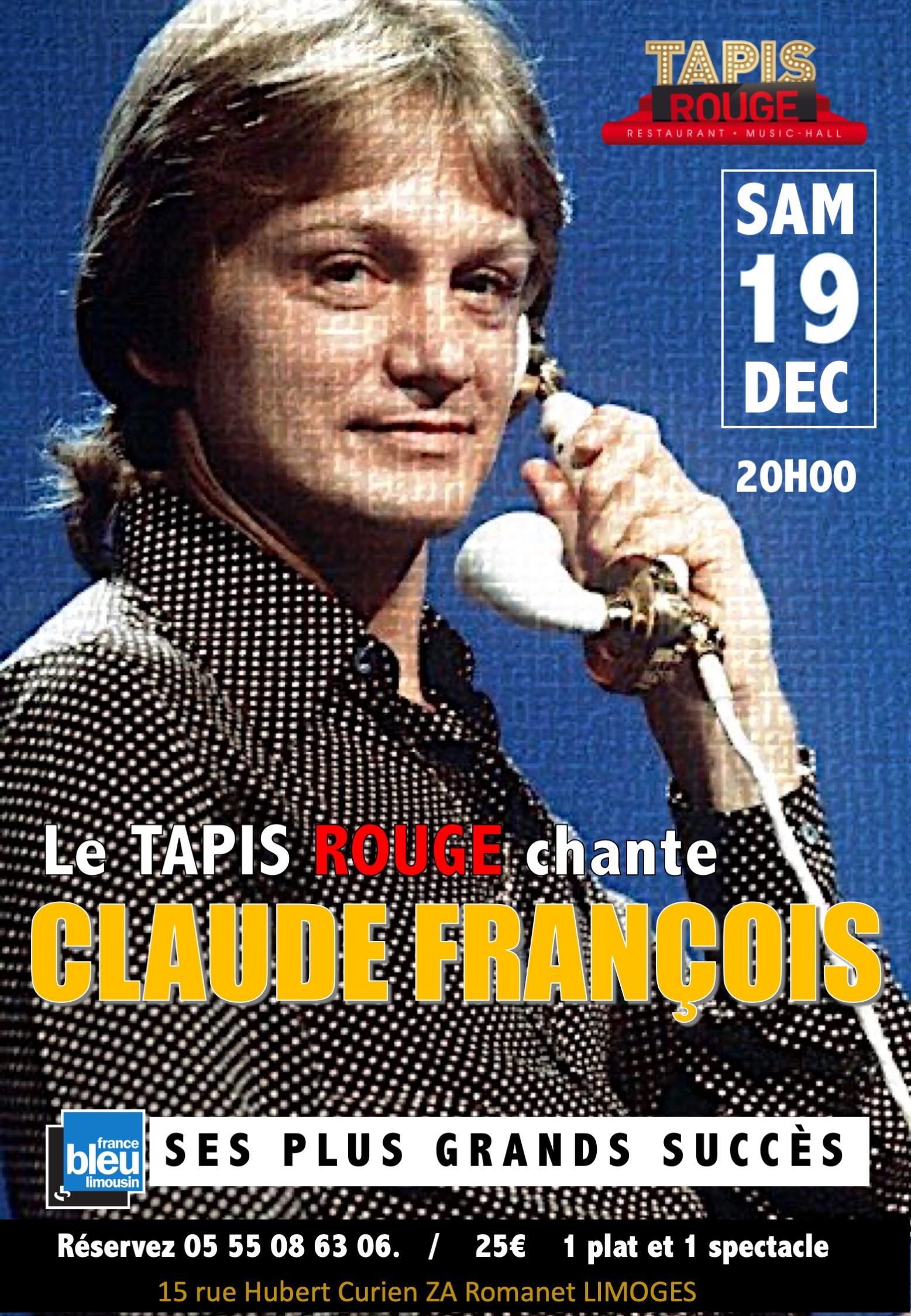 AFFICHE CLAUDE FRANCOIS 2020