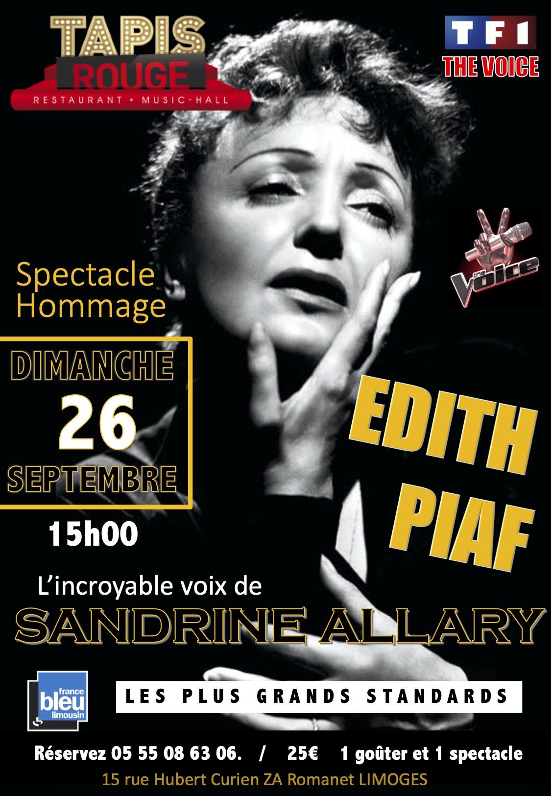 """HOMMAGE """"EDITH PIAF"""" SANDRINE ALLARY"""
