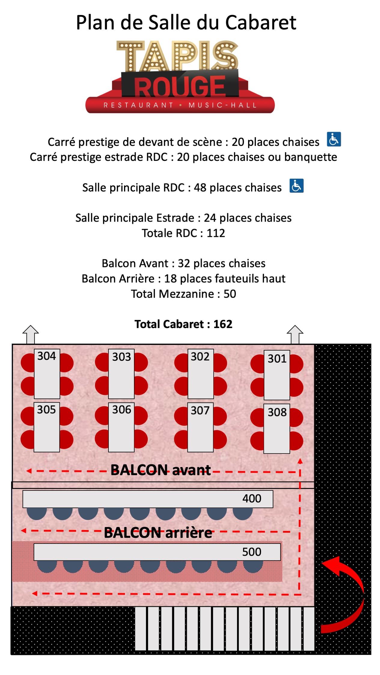 PLAN DE SALLE (BAS et HAUT)
